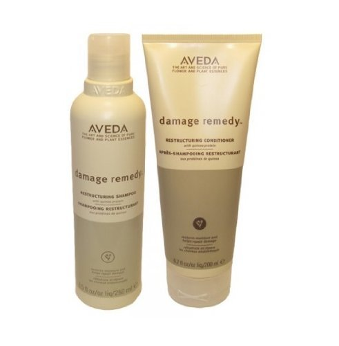 Aveda Damage Remedy Shampoo 8.5 oz & Conditioner 6.7oz Duo (Best Damage Repair Shampoo And Conditioner)