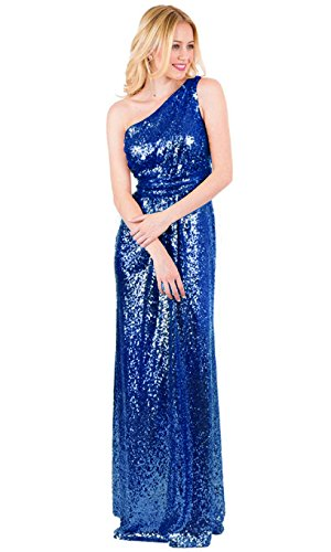 EverLove Women's Sequined Long Bridesmaid Dresses Wedding Party Gown EL-0045 18W Royal Blue ()