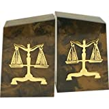 Cappuccino Marble Legal Bookends