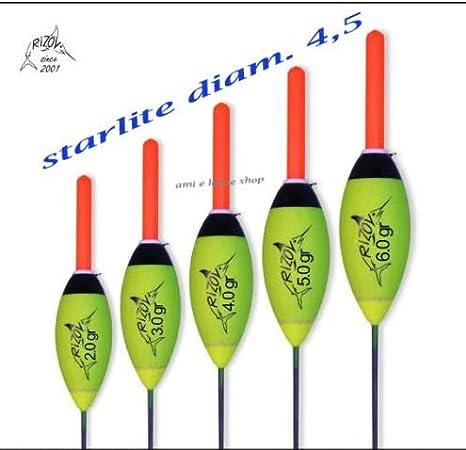 1 Galleggiante Venturieri 2gr pera rov starlight cappuccio 3 mm pesca mare fiume
