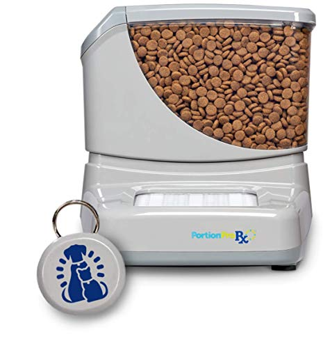 PortionProRx Automatic Pet Feeder (for Dogs and Cats) - Prevents Food Stealing Among Multiple Pets and Delivers Scheduled Meals