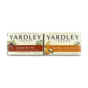Yardley Londres jabón baño bar Bundle – 4 bares: Avena y Almendra y manteca de
