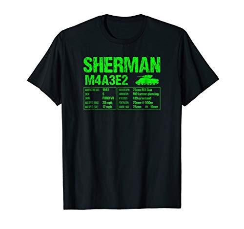 (WW2 American M4 Sherman Tank Technical Facts T-shirt)