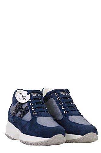 Hogan , Chaussures de ville à lacets pour femme bleu bleu