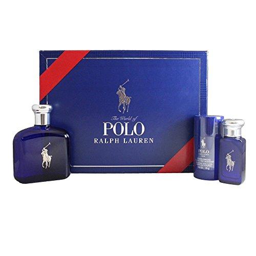 Ralph Lauren Polo Blue 3 Piece Men's Gift Set ()