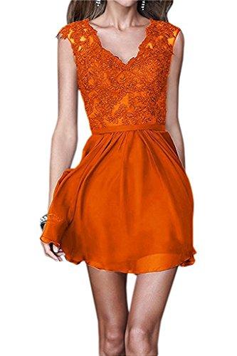 La Spitze Marie Chiffon Linie Partykleider Orange Kurzes Braut Abendkleider Mini Cocktailkleider Tanzenkleider A pIpwS1rnq