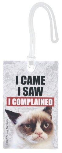 Ganz Grumpy Cat Luggage / ID Tags _ I came I saw I compla...
