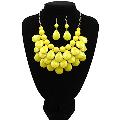 Dis_show Multilayer Statement Necklace Earrings