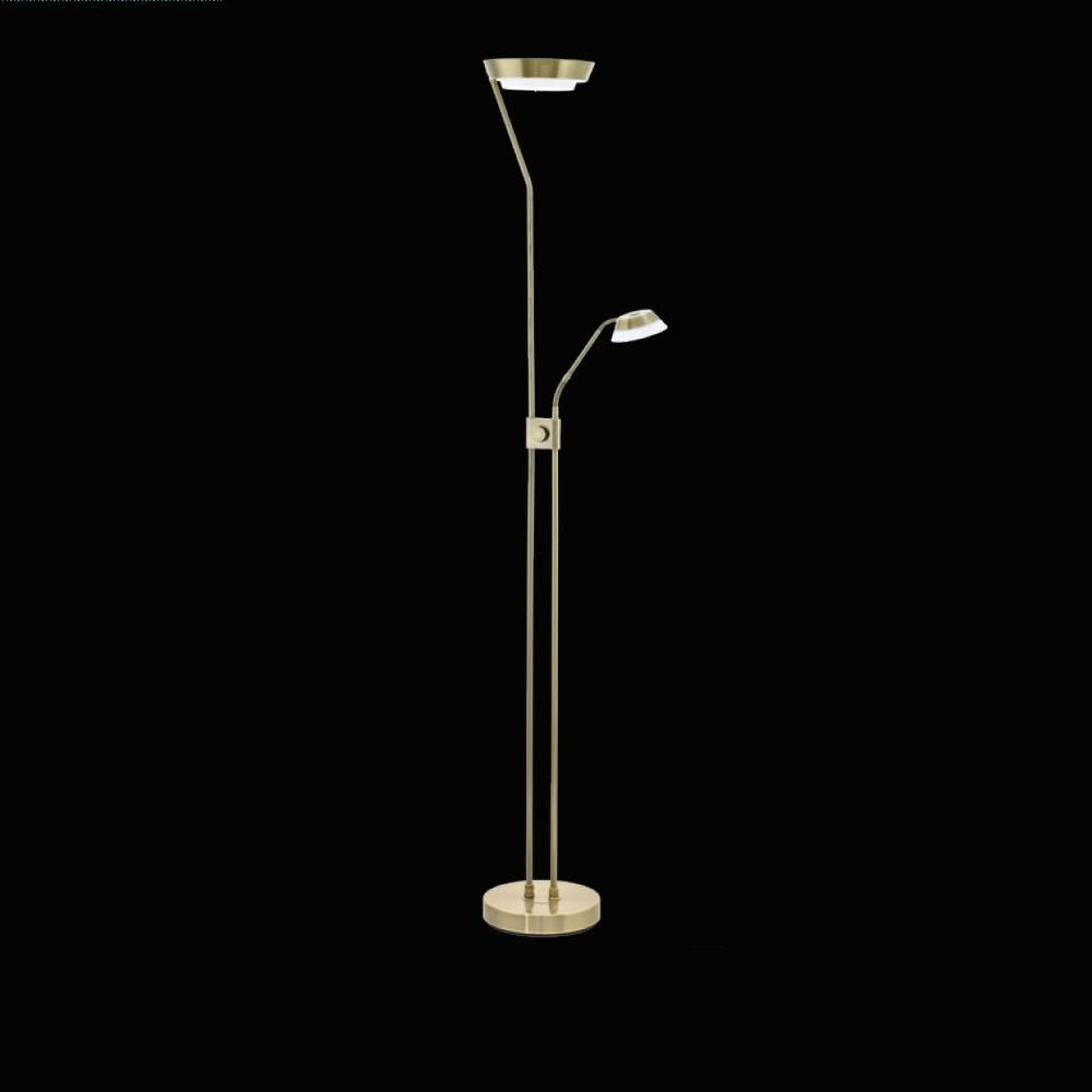 Deckenfluter Mit Lesearm Fluter Dimmbar Stehlampe Messing