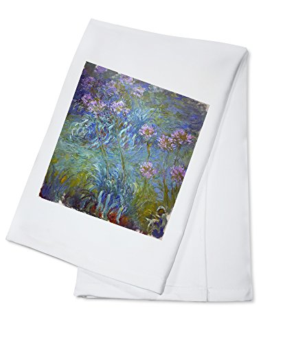 Agapanthus - Masterpiece Classic - Artist: Claude Monet c. 1914 (100% Cotton Kitchen Towel) ()