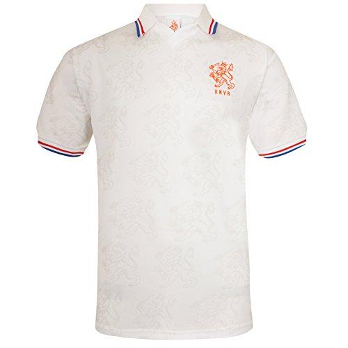 Netherlands Holland Official Soccer Gift Mens 1994 Away Retro Kit Shirt (Netherlands Away Jersey)