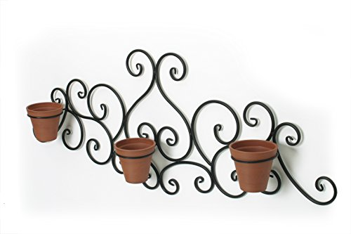 Algreen Victorian Scroll Wall Art with Planter, Terra ()