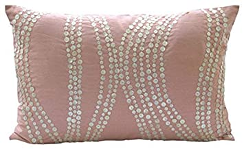The HomeCentric Handmade Pink King Pillow Shams, Mother of Pearls King Pillow Shams, 20 x36 Silk King Pillow Shams – Angelic Soft