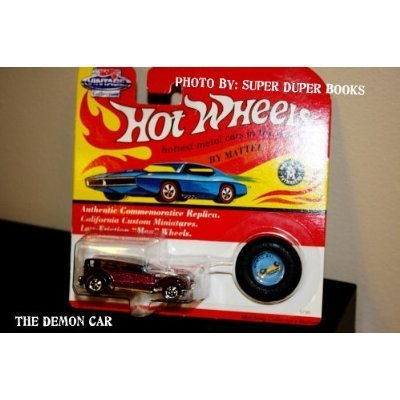 Hot Wheels 1993 Vintage Collection The Demon Car with Matching Collectors Button