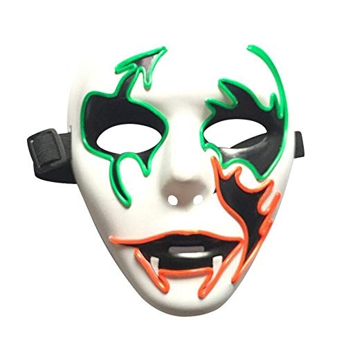leslieshop Glowing LED Halloween Masks, Anonymous Haloween Cosplay Mask ()