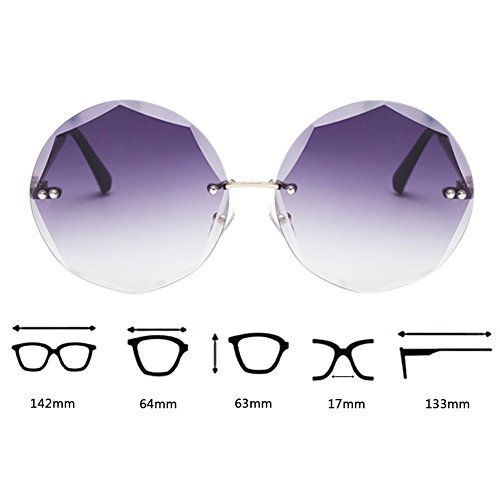 retro lentes Gafas regalos ultravioleta sin Deylaying gafas protección de anti metal poligonales geometría conducción de montura Gris marco sol de 8UXfUq
