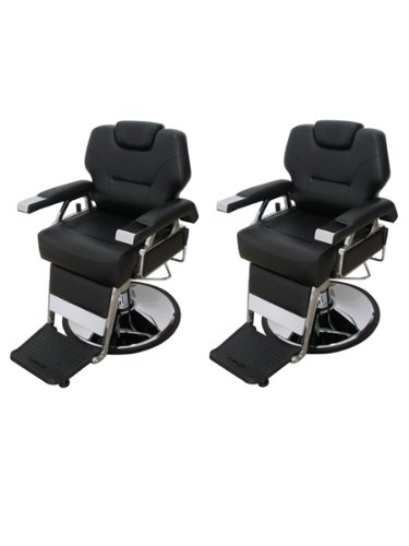 BR Beauty Set of 2 K.O. Professional Barber Chairs