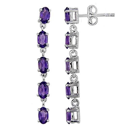 Amethyst Earrings for Women in Sterling Silver