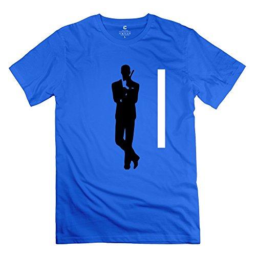 James Bond 007 100% Cotton T Shirt For Man's RoyalBlue XL New Coming T Shirts