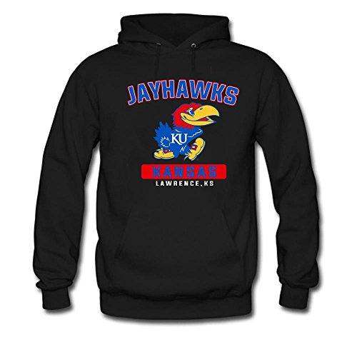 Men's Kansas Jayhawks Campus ICon Hoodie Black