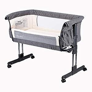 Mika-Micky-Bedside-Sleeper-Easy-Folding-Portable-CribGrey
