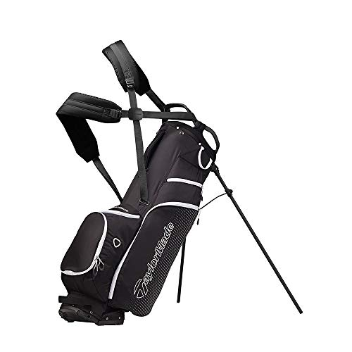 Black White Stand Bag - TaylorMade 2019 LiteTech 3.0 Stand Golf Bag, Black/White