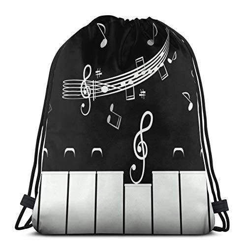 Piano Keys Staff Notes Drawstring Bag Backpack Travel Gymsack Drawstring Backpack Sackpack]()