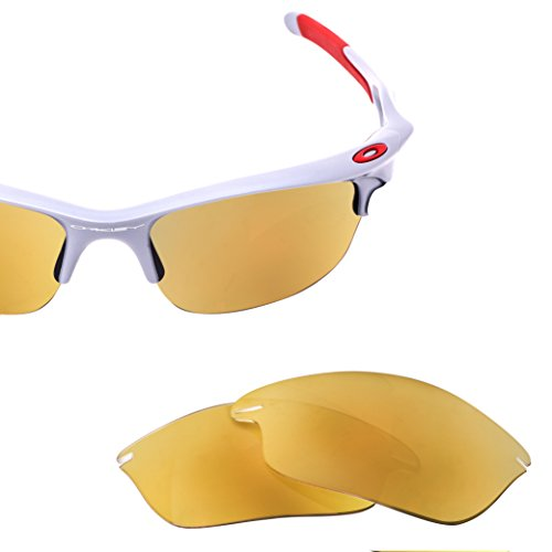 LenzFlip Replacement Sunglass Lenses for Oakley FAST Jacket - Polarized with 24K - Sunglasses Fast
