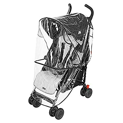 Clear Rain Wind Weather Cover Shield Protector with Ventilation for GB Baby Child Strollers Joggers (Qbit) Ponini