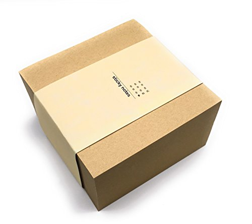 Litchi Office Self-Stick Notes, 4 x 4 Inch, 400 Sheets in 1 Pad/Pack, Extreme Sticky Kraft Paper Notes, More Durable and Writing Space than the Sticky Notes 3 x 3 Inch Editions (Brown) (Paper Kraft Sticky Notes)