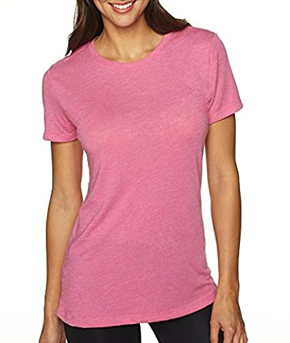 Next Level Tri-Blend Deep V Jersey T-Shirt, Vintage Pink, Large (Pack10) (Next Level Tri Blend V)