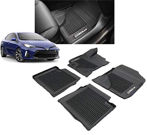 Genuine Toyota All-Weather Floor Liner Set PT908-02170-02 Black 4 Piece Set. 2017 COROLLA ONLY! ()