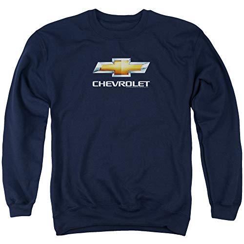 (Chevrolet Chevy Bowtie Stacked Men's Crewneck Sweatshirt L Navy Blue)