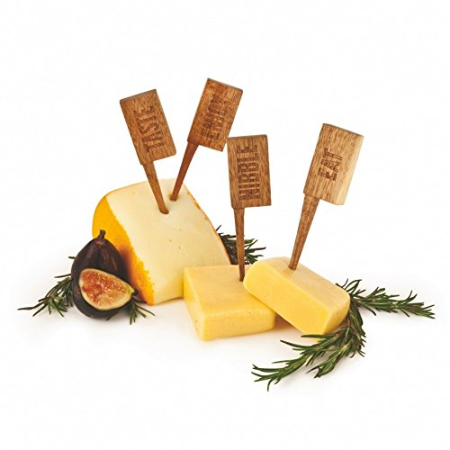Serving Cheese, Wooden Reusable Markers Labels Tool Cheese Label Set by True