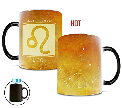 (Morphing Mugs Birthday Zodiac Sign (Leo) Heat Reveal Ceramic Coffee Mug - 11 Ounces Yellow)