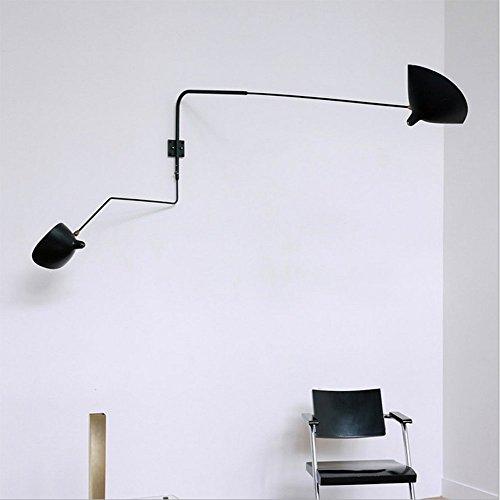 OOFAY LIGHT Vintage Wall Lamp Nordic Creative Arm Swing Source 2-Light Bedroom Reading Lighting Postmodern Living Room Fixture