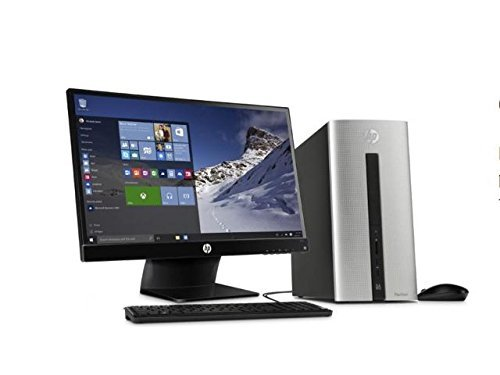 2017 HP Pavilion 500 550 High Performance Flagship Premium Desktop Computer with 23 Inch 1080P Monitor (Intel Core i3-4170 3.7GHz, 6GB RAM, 1TB HDD, Wifi, DVD, Windows 10) (Certified Refurbished) (Hp 500 Desktop Computer)