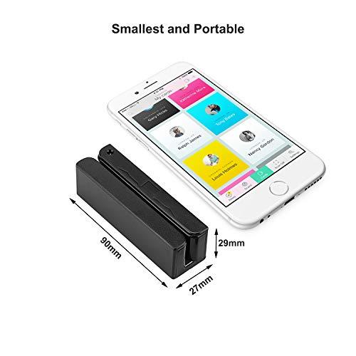 MSR90 USB Swipe Magnetic Credit Card Reader 3 Tracks Mini Smart Card Reader MSR605 MSR606 Deftun