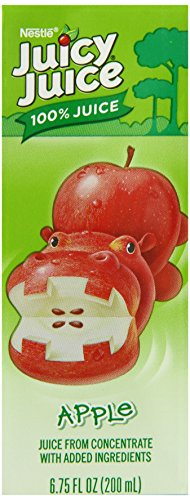 Juicy Juice 100% Juice, Apple, 8-Count, 6.75-Ounce Boxes (Pack of 4)