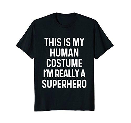 Mens Funny Superhero Costume Shirt Halloween Kids Adult Men Women Large (Mens Halloween Costume Idea)