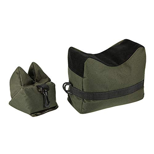 Fullwei Outdoor Shooting Rest Bags Target Sports Shooting Bench Rest Front & Rear Support Sandbag Stand Holders for Gun Rifle Shooting Hunting Photography (Army Green)