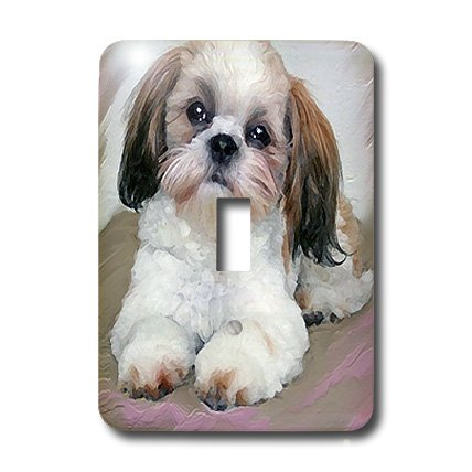 3dRose LLC lsp_4807_1 Shih Tzu Puppy, Single Toggle Switch