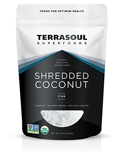 (Terrasoul Superfoods Organic Shredded Coconut (Fine), 1 Pound)