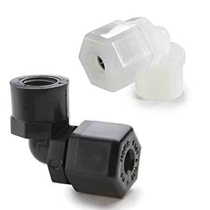 90 Degree Angle Parker Hannifin P6FE4 Fast /& Tite Polypropylene Female Elbow Fitting Black 3//8 Compression Tube x 1//4 Female NPTF