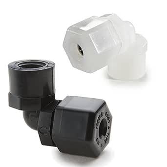 90 Degree Angle 1//2 Compression Tube x 1//2 Compression Tube Parker Hannifin P8EU8 Fast /& Tite Polypropylene Elbow Union Fitting Black