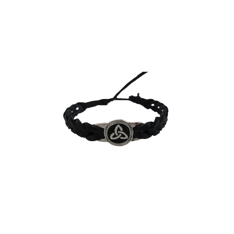 Amazon celtic friendship bracelet round trinity black faux amazon celtic friendship bracelet round trinity black faux leather charm bracelets jewelry biocorpaavc