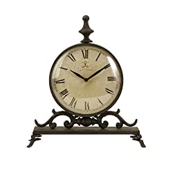 IMAX 27562 Eilard Iron Table Clock