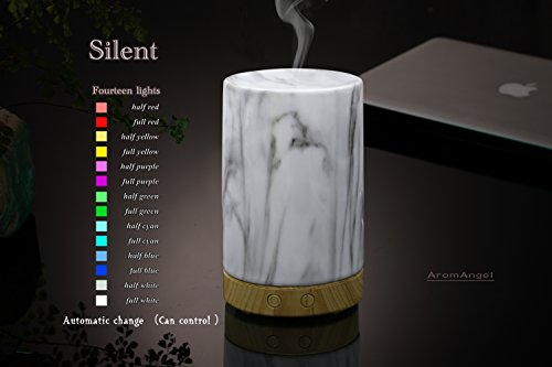 AA Ceramic in Marble finish Aroma Essential Oil Diffuser Aromatherapy Humidifier 120ml Housing with 14-Color LED Light