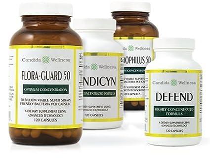 Amazon.com: Flora-Guard 50 (120 cápsulas) Acido Candida ...