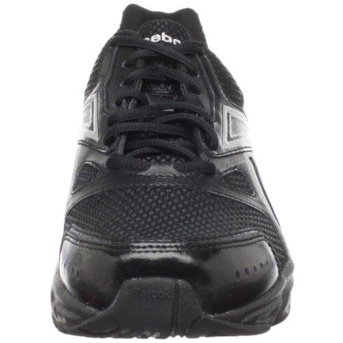 Reebok Chaussures De Course Instantanée Pour Homme En Cuir / Noir / Argent